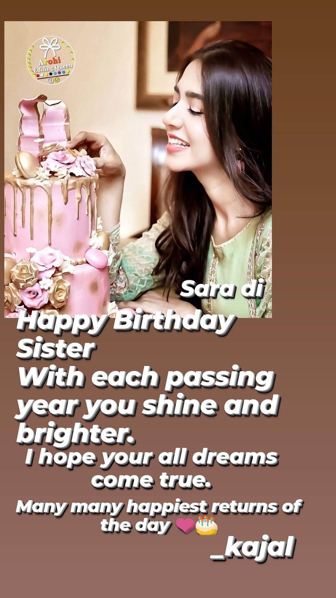 Many Many Many Happy Returns Of The Day Happy Birthday To U Sis Happy Birthday Sister Happy Birthday Happy Returns