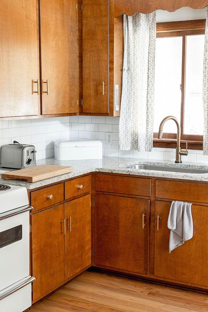 Brand New Brass Hardware In Our Mid Century Kitchen Kitchen