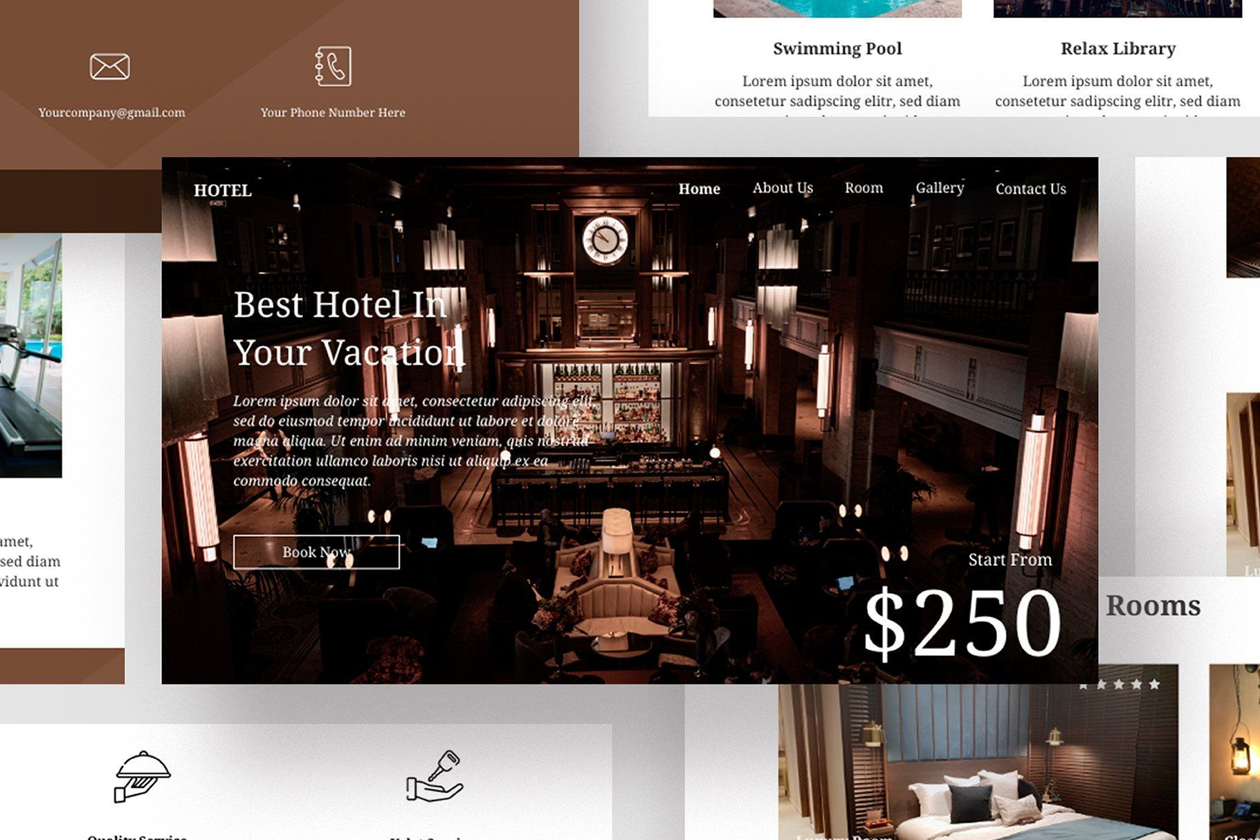 Hotel Email Newsletter Template. A Responsive design email template designed for Multipurpose activ