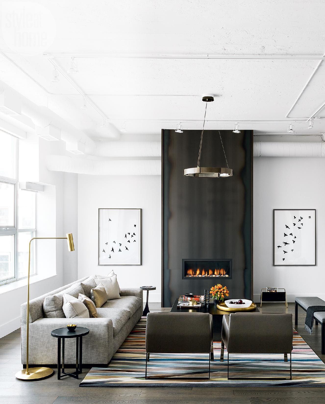 Edgy Meets Elegant Luxe Loft With Industrial Swagger Styl