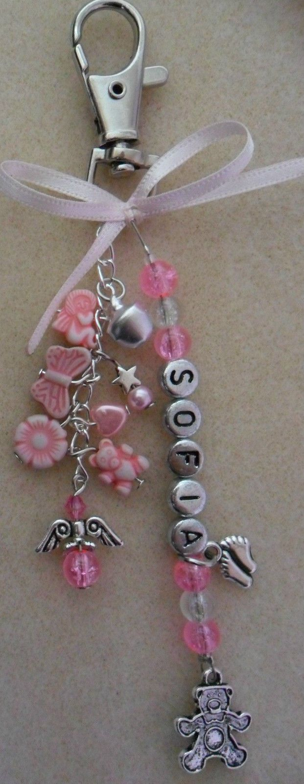 Details about Personalised Baby Changing Bag Pram Charm