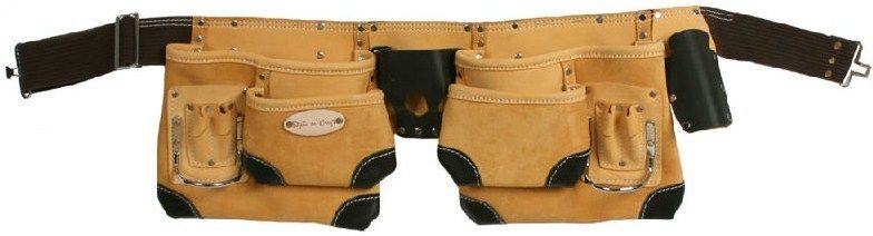 Style n Craft  93428 - 10 Pocket Carpenter's Tool Belt in Top Grain Leather #StylenCraft #ToolBag