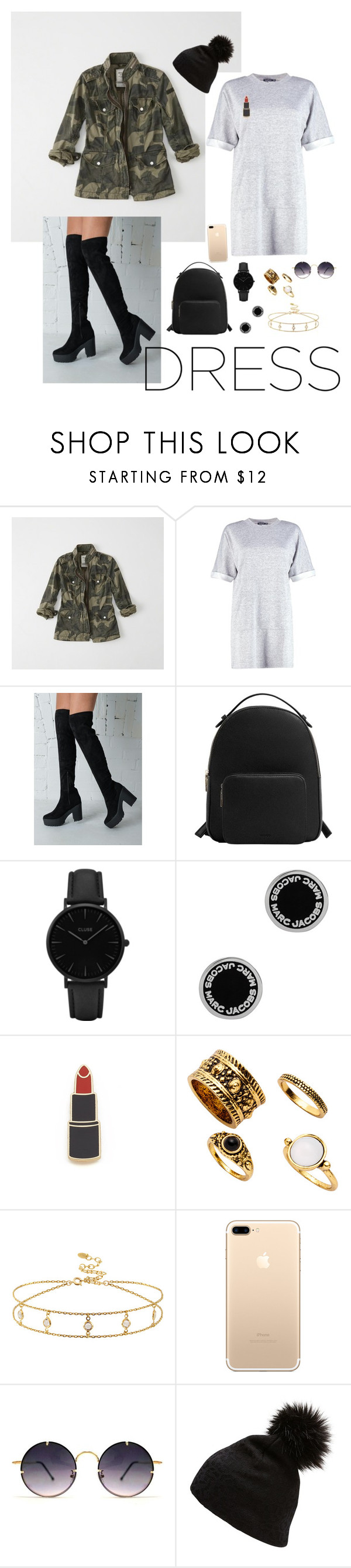 """""""Sans titre #941"""" by manon-rnd ❤ liked on Polyvore featuring Abercrombie & Fitch, Boohoo, MANGO, CLUSE, Marc Jacobs, Georgia Perry, Spitfire and Witchery"""