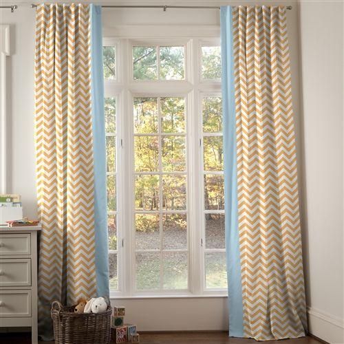 Possible Nursery Curtain Option Light Orange And Aqua