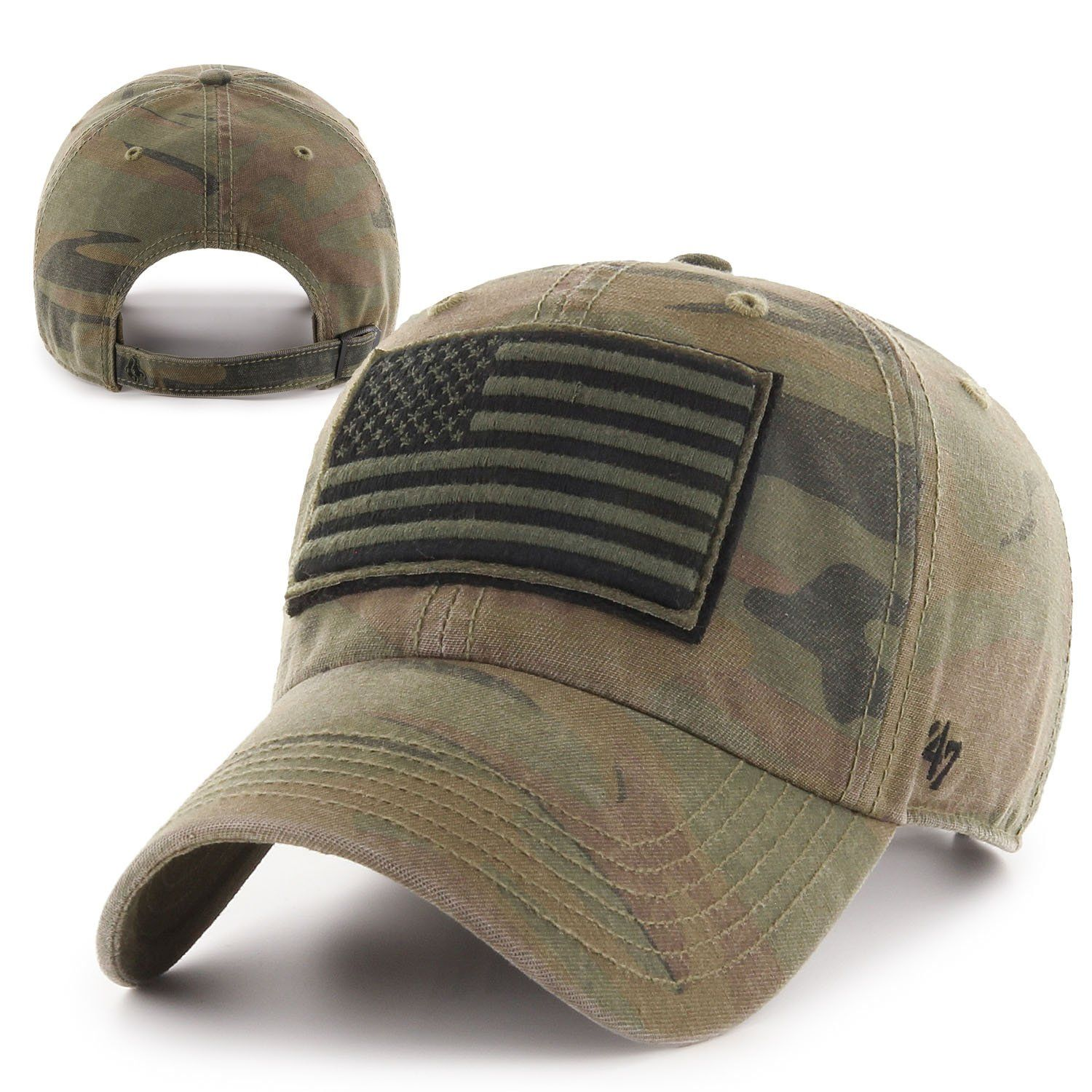 4b30be49c16d3 Operation Hat Trick Movement Camo Sandalwood 47 Brand Adjustable USA Flag  Hat in 2019