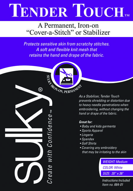 Sulky Of America Cut Away Soft N Sheer Stabilizer Black 20 by 1 yd