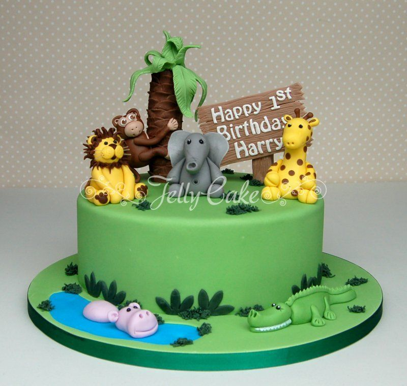 Birthday Cake Ideas Jungle Theme : Jungle Party Cake Toppers Apartment Warming Party ...