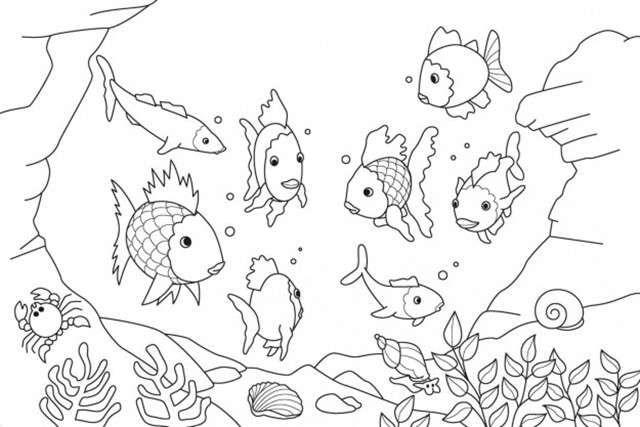 Dibujos para colorear con pincel: fotos diseños - Acuario para ...