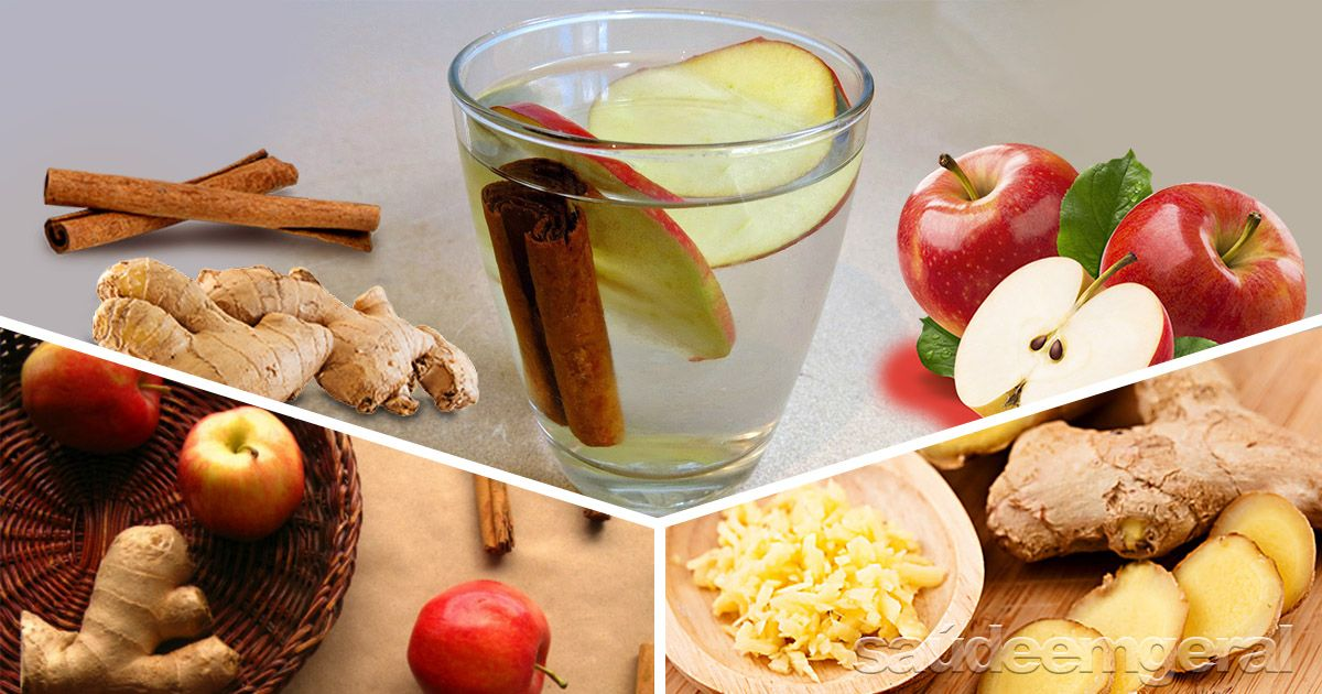 Agua Detox De Maca Canela E Gengibre Para Queimar Gordura
