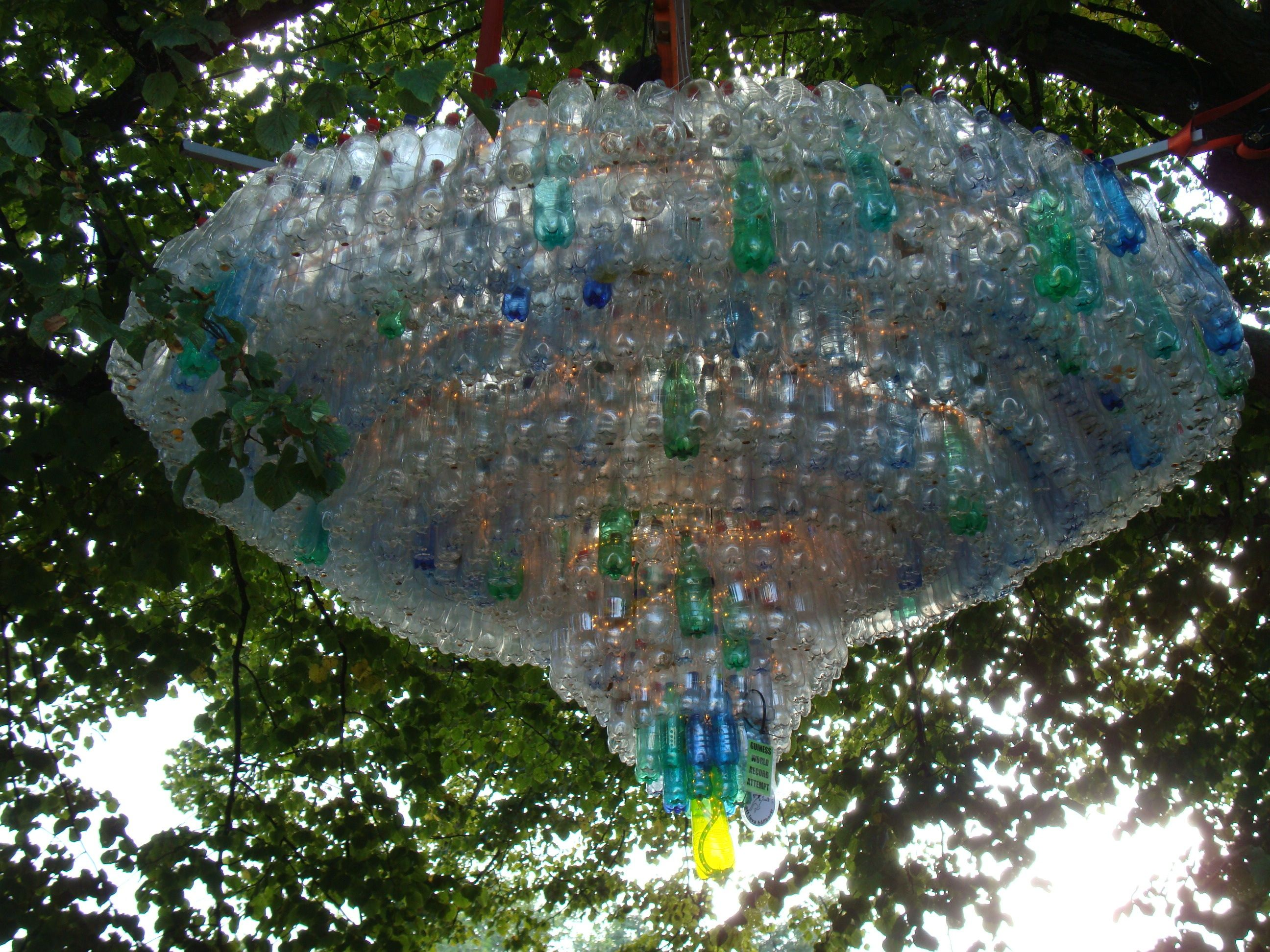 Recycled and awesome recycledremade pinterest plastic chandelier of plastic arubaitofo Images