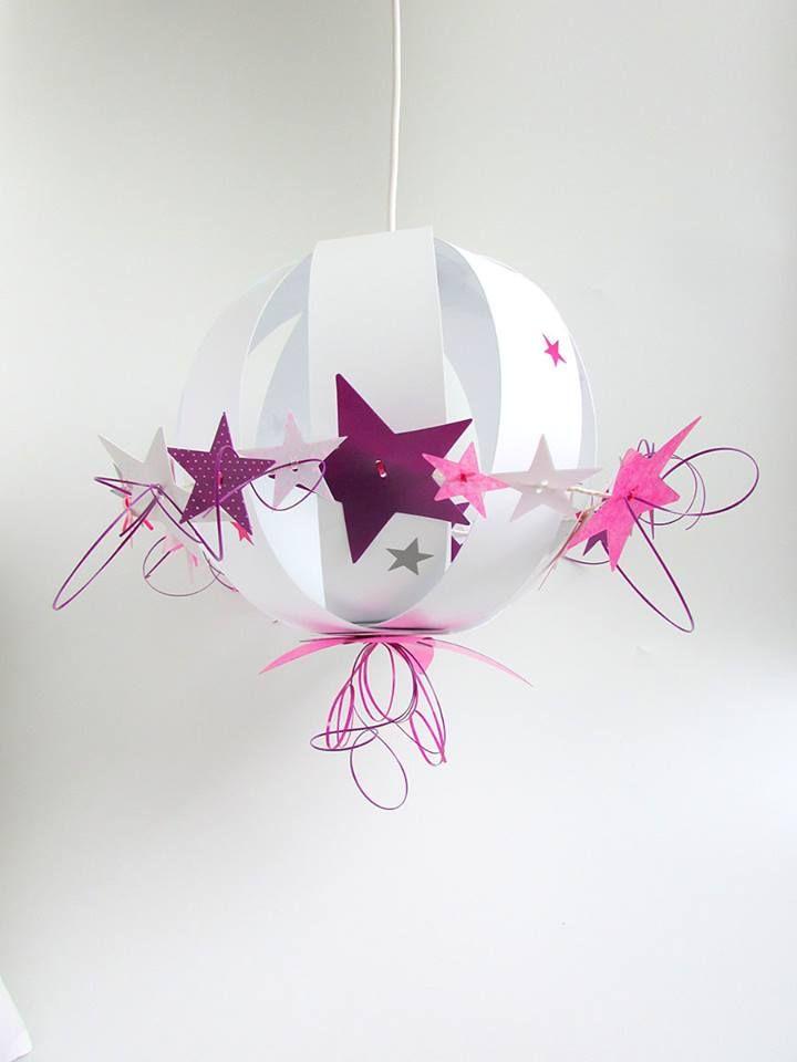suspension-plafonnier-chambre-bebe-fille-etoiles-rose-violet