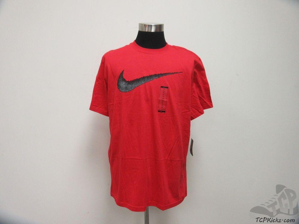 sports shoes 42fe7 e00c0 Nike Air Short Sleeve Crewneck t Shirt sz L Large NWT BIG Swoosh Flight Red   Nike  BasicTee  tcpkickz