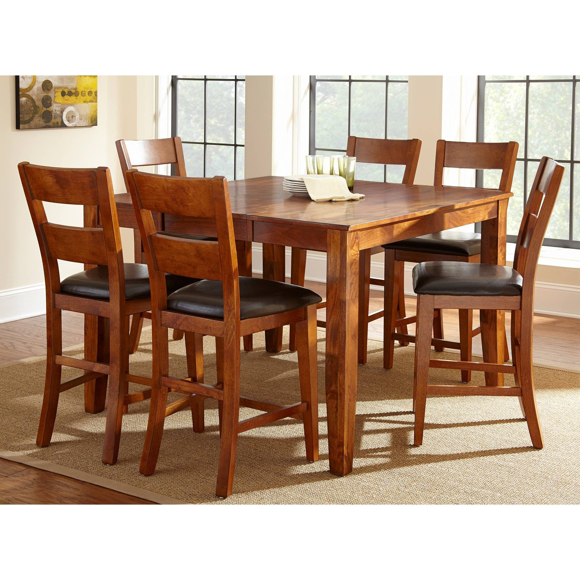 Steve Silver Co 7pc Amanda Counter Height Dining Set