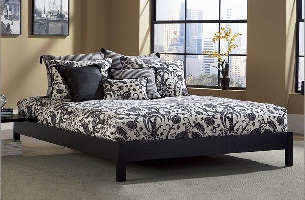 Lux Living Murray Platform Bed in Black Mattress Firm Mattress