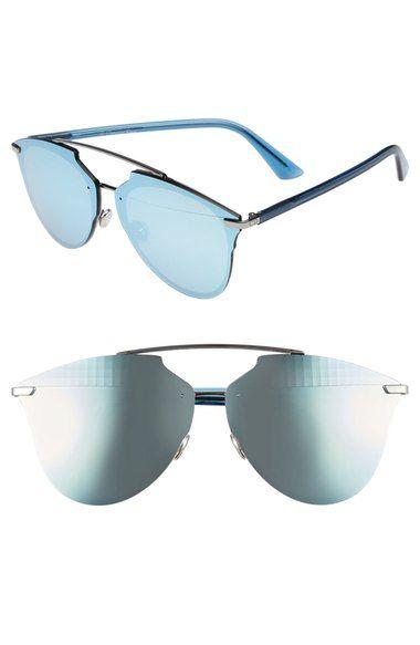 8e0e84a6a477 Reflected Prism 63Mm Oversize Mirrored Brow Bar Sunglasses ...