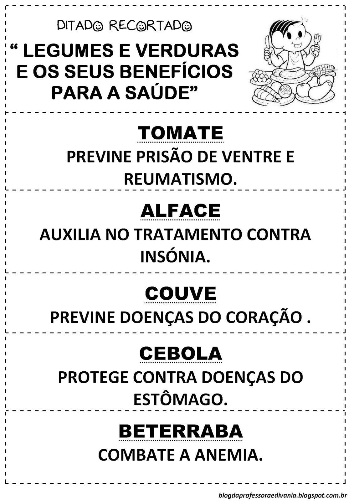 Blog Da Professora Edivania Atividades Sobre Alimentacao