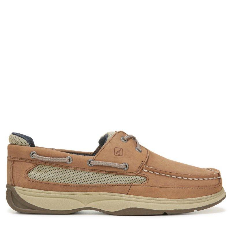 068dfc4433 Sperry Top-Sider Kids  Lanyard Boat Shoe Pre Grade School Shoes (Dark Tan  Navy) - 13.0 M