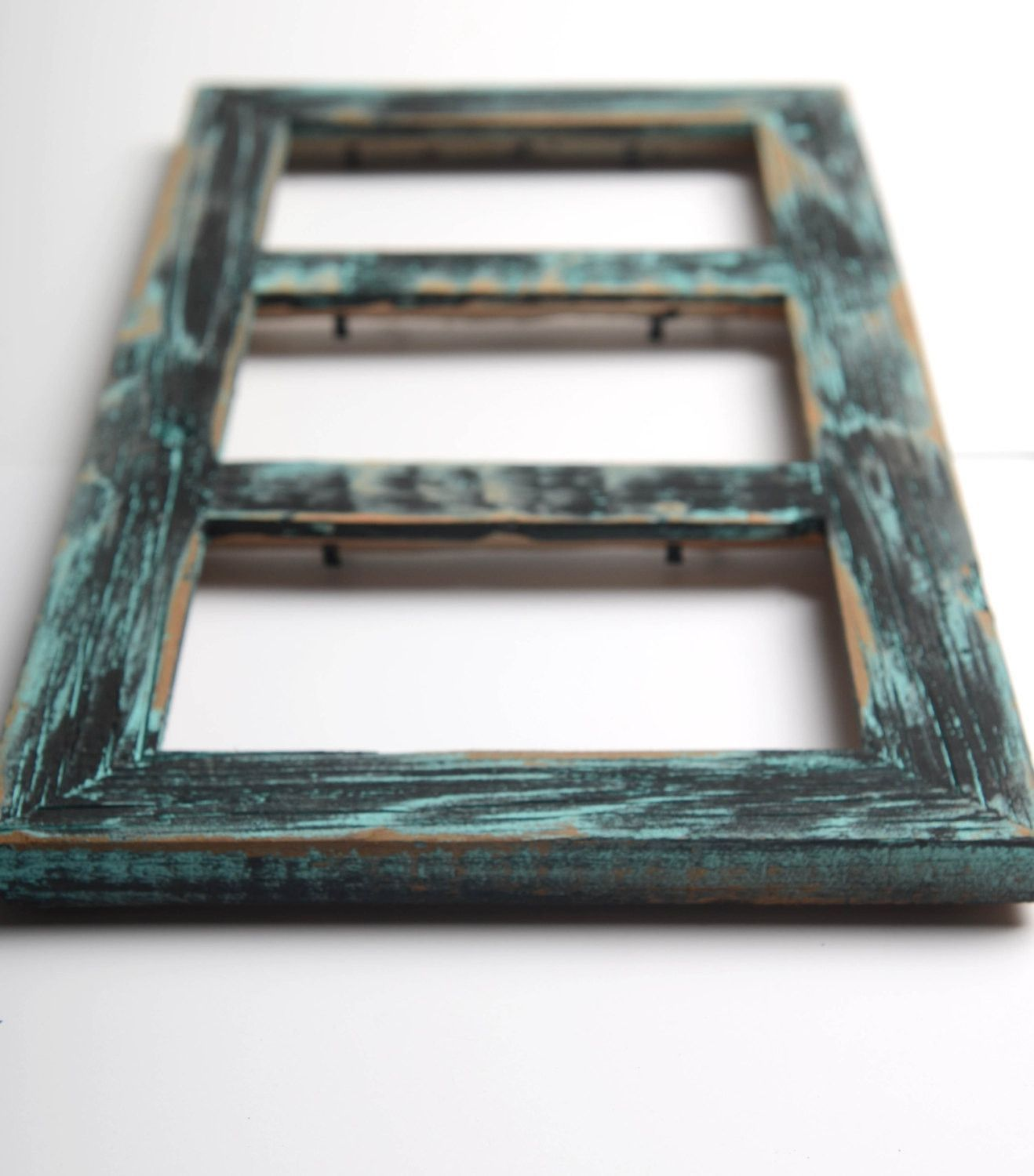 3 hole 4x6 Collage Multi Opening Picture Frame-Rustic Picture Frame ...