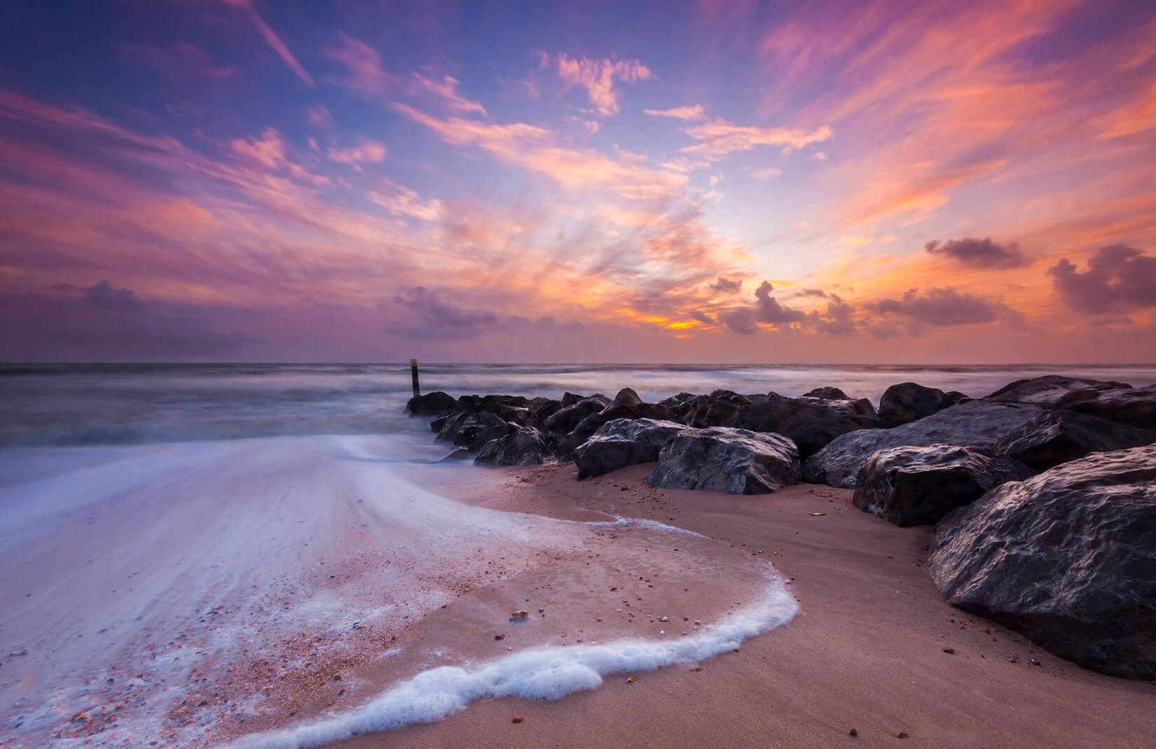 Sea foam Shoreline Wall Mural (With images) Beach sunset
