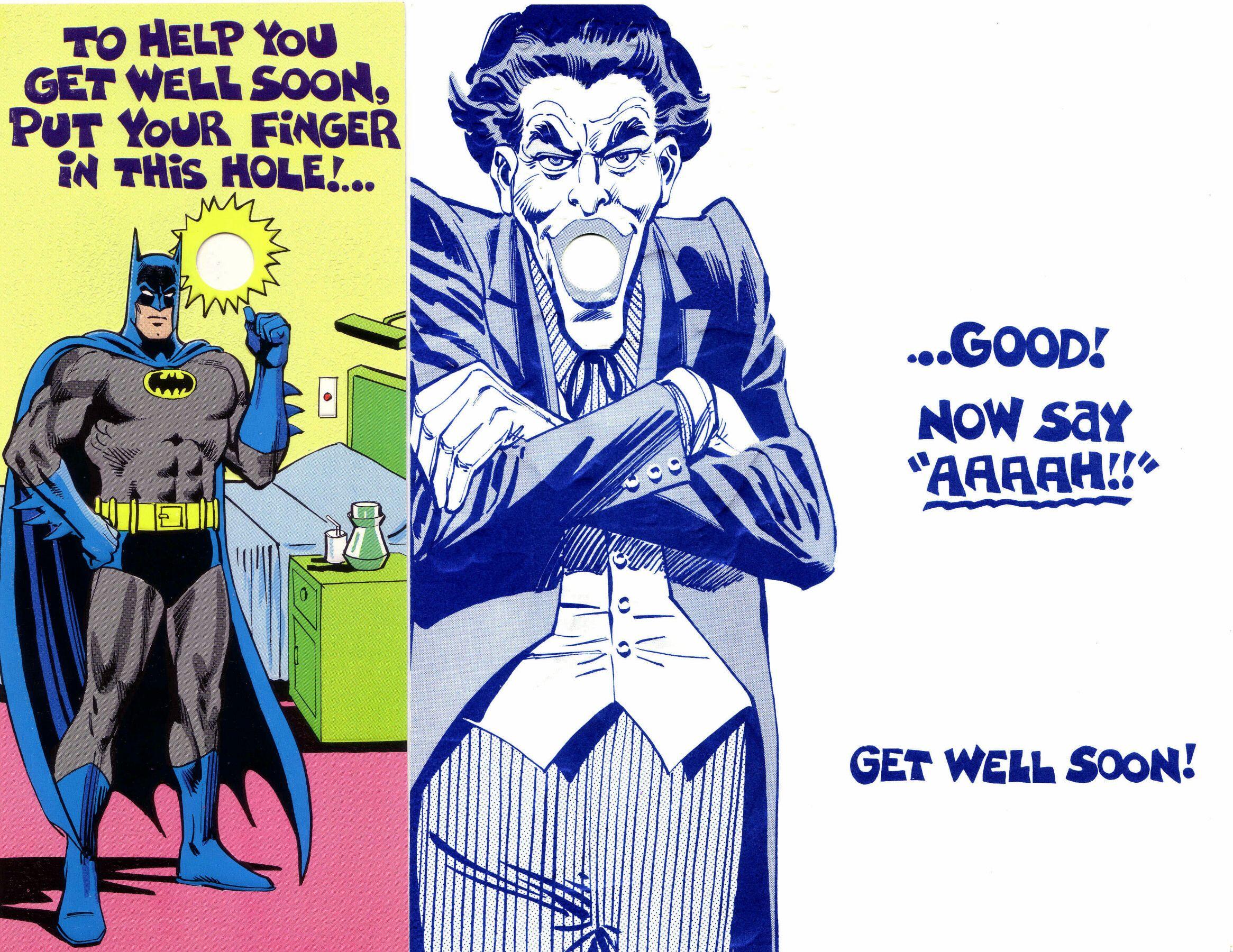 Cheeky Vintage Batman And Joker Get Well Card Batman Na Na Na