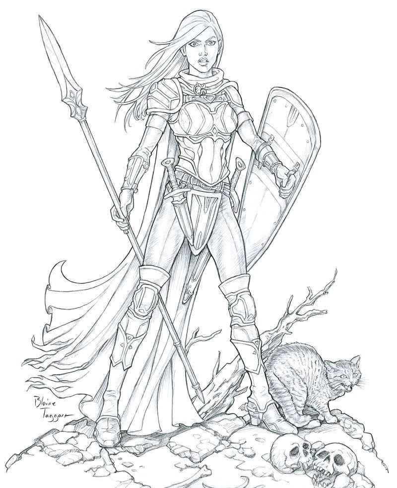 Here Is My Ridiculously Huge Character Art Folder Enjoy Warrior Drawing Character Art Coloring Books