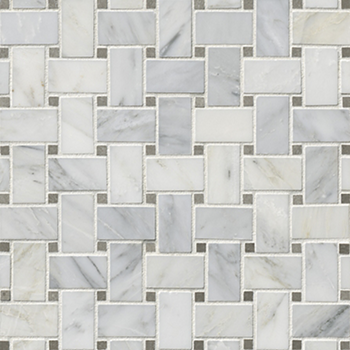 Hampton Carrara Polished Niles With Cindarella Grey Marble Mosaic Tile 12 X 12 In The Tile Shop In 2020 Marble Mosaic Tiles Marble Mosaic Mosaic Tiles