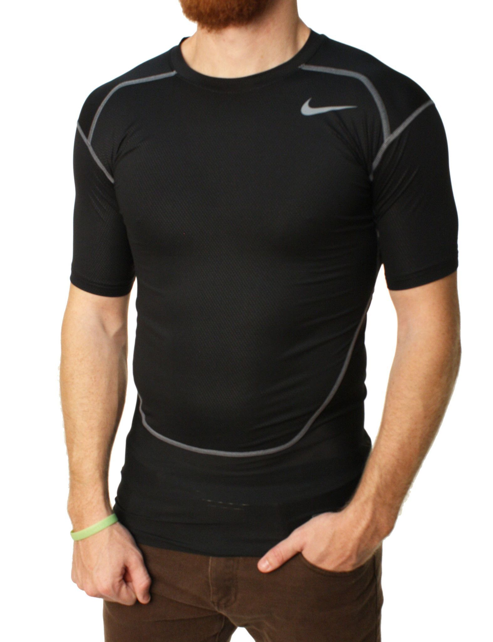 c2d84a5b Nike Pro Combat Men's Dri-Fit Max Hypercool Compression Training T-Shirt