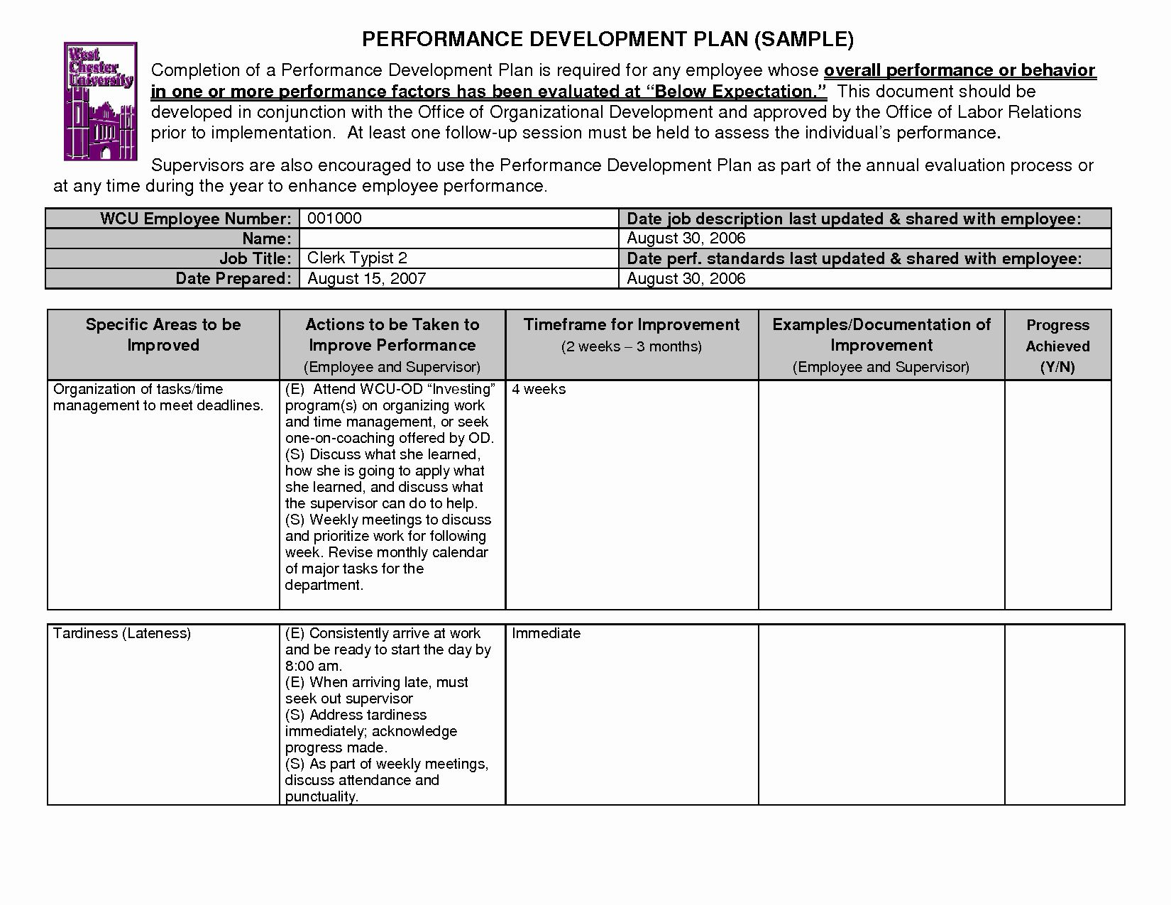 Employee Development Plans Templates Unique 14 Best Of