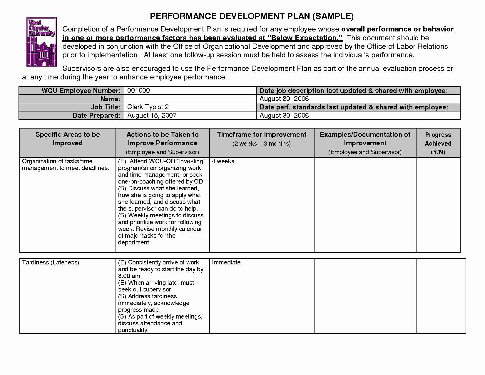 Employee Development Plans Templates Unique 14 Best Of