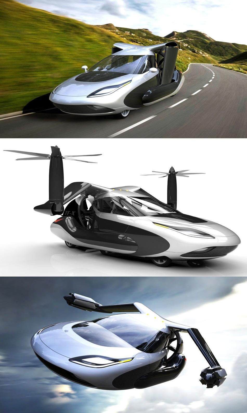 The Coolest Flying Car Concept Has Helicopter Blades And An Electric