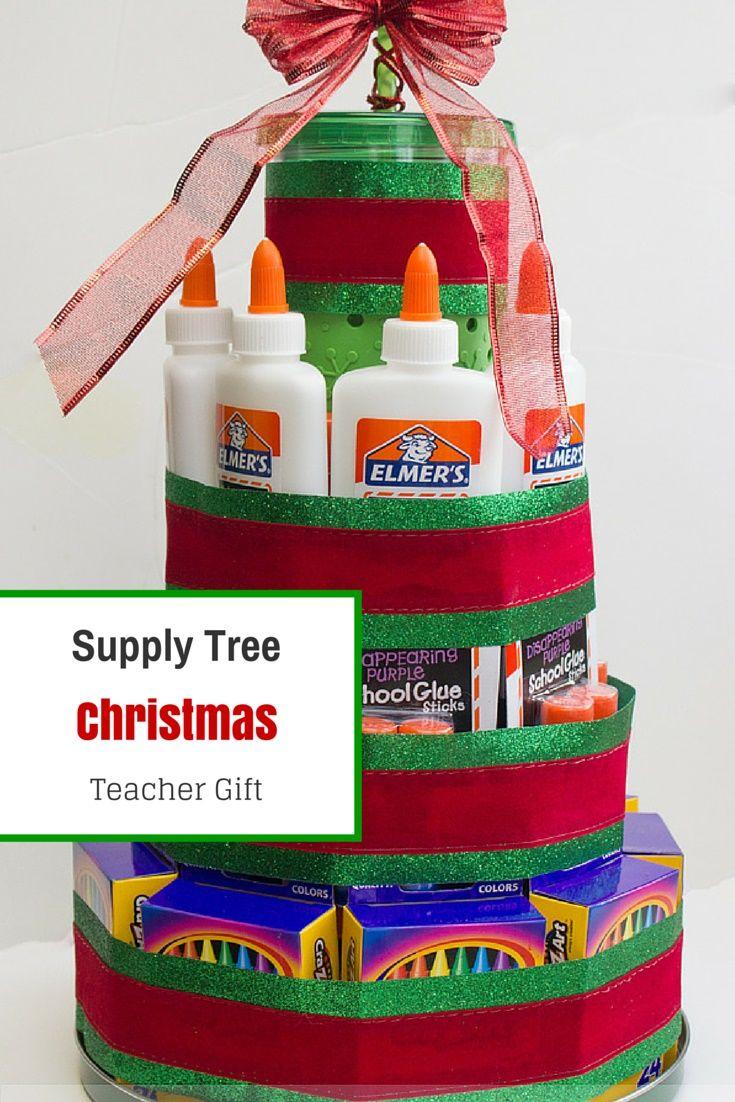 Teacher Christmas Gift Idea - Supply Christmas Tree - My Little Me ...