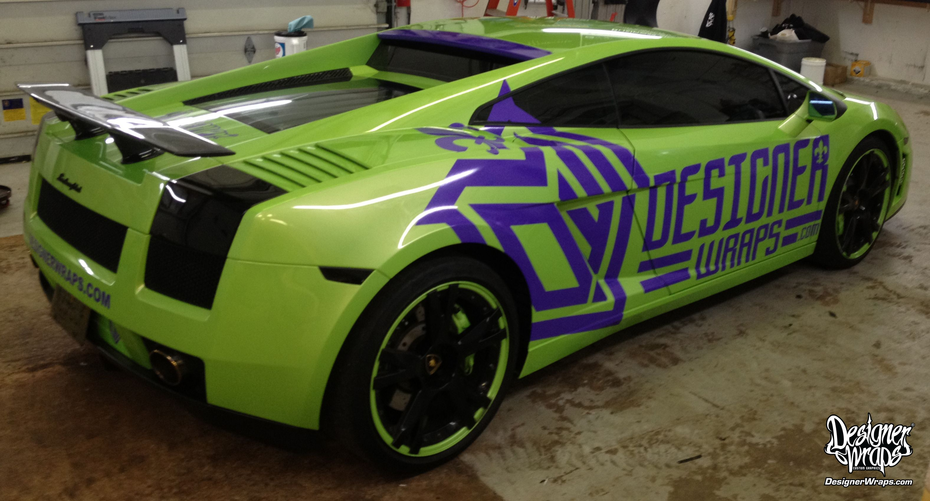 Lamborghini Gallardo Designer Wrap Decals Sponsored Lambo Trim