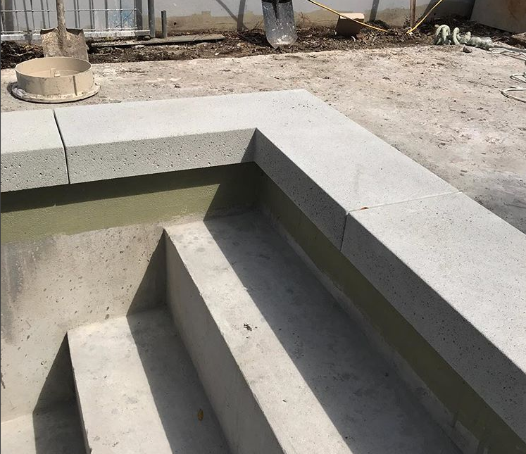 Concrete pool coping | Pool in 2019 | Pool coping, Concrete pool ...