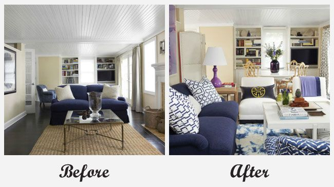 Room makeover - living room. For more great before and after room ...
