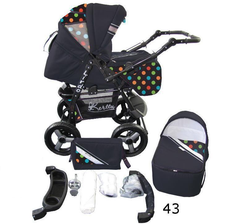 Pram pushchair stroller 2 in 1 from Bomo + carrycot