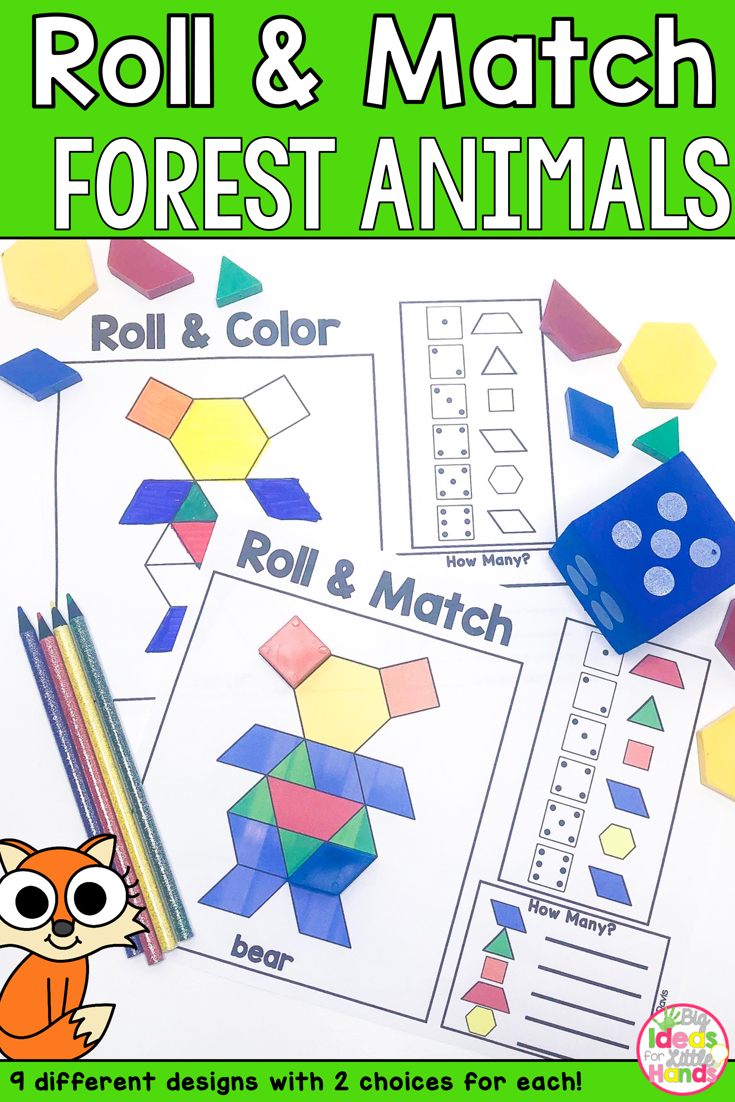 Pattern Blocks Mat Forest Animals Math Games With Images