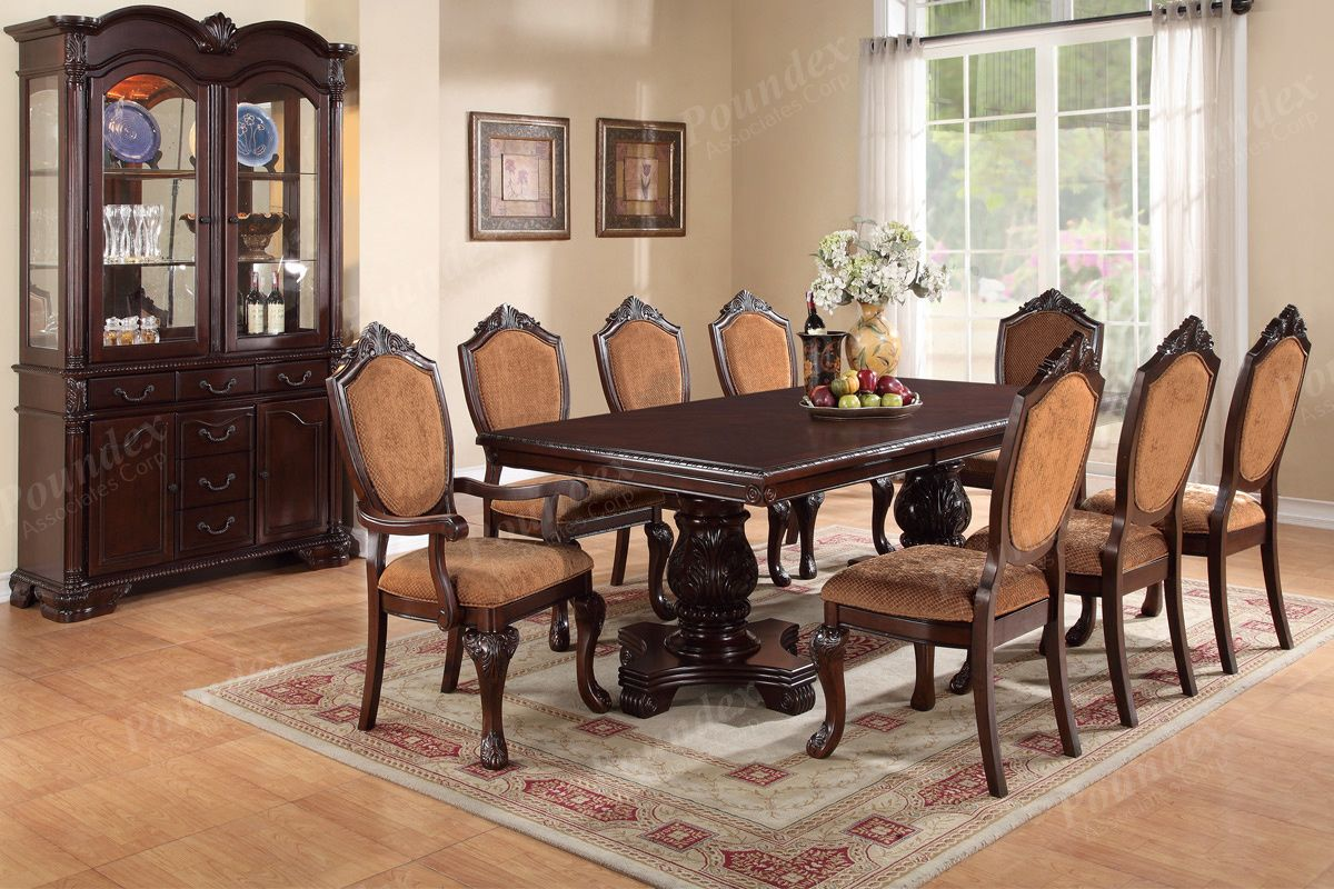 Dining Table 6 Side Chairs & 2 Arm Chairs Onlydescription From Pleasing 9 Pcs Dining Room Set Decorating Design