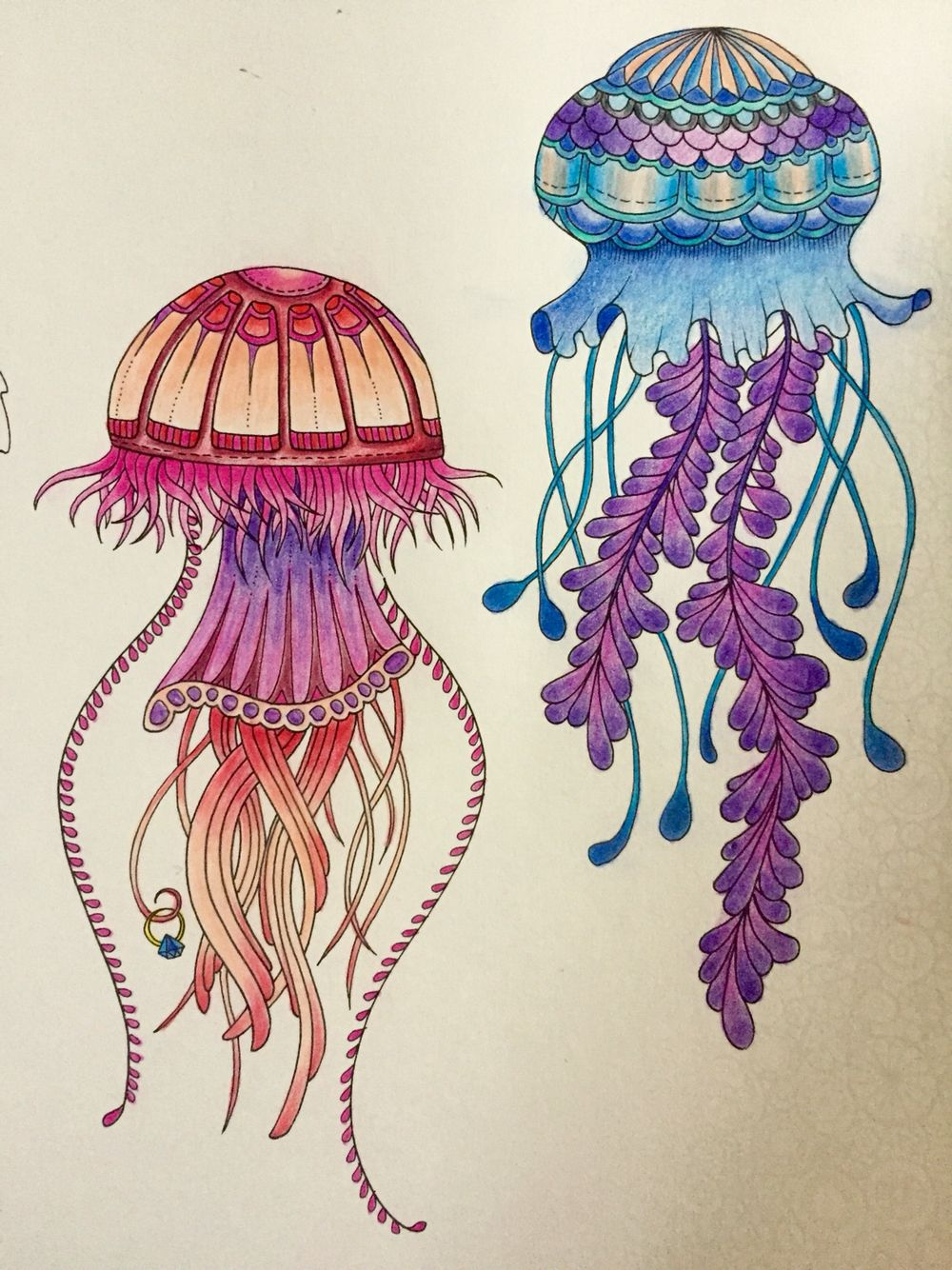 Zen ocean colouring book - Jellyfish Lost Ocean By Johanna Basford