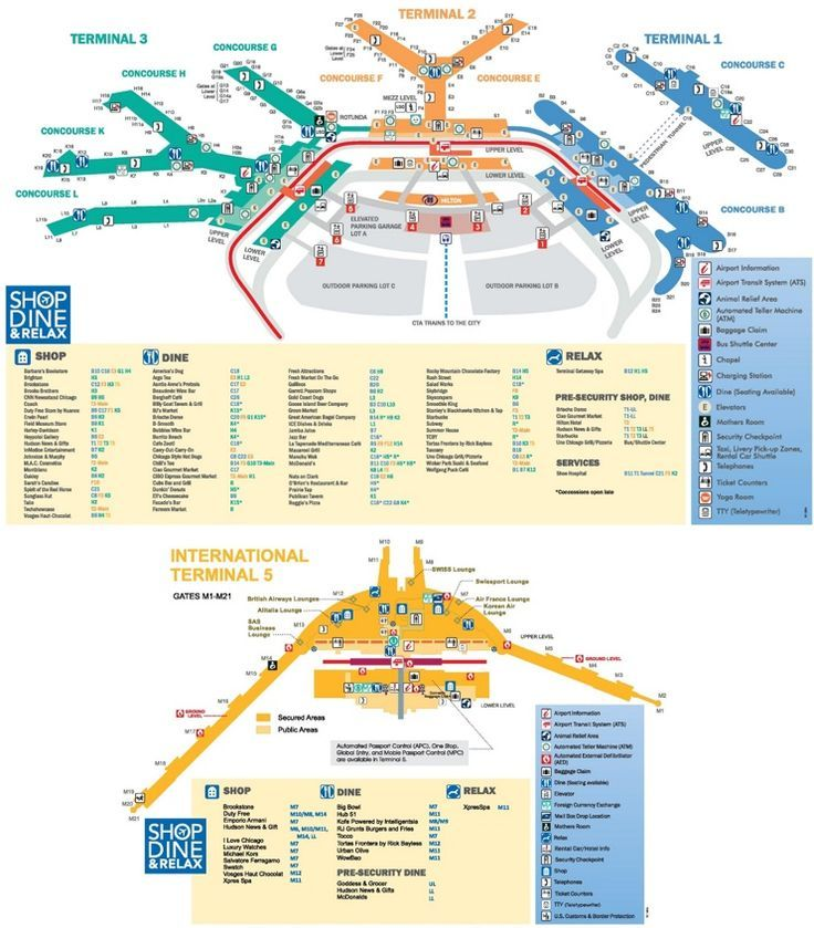 chicago o'hare airport map | airport map, chicago o'hare