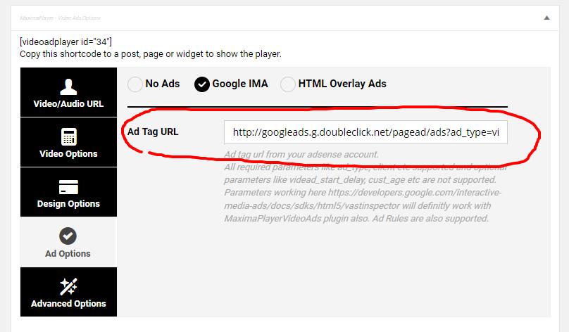 WP Bakery Addon - Adsense for Video / Google IMA HTML Video Player