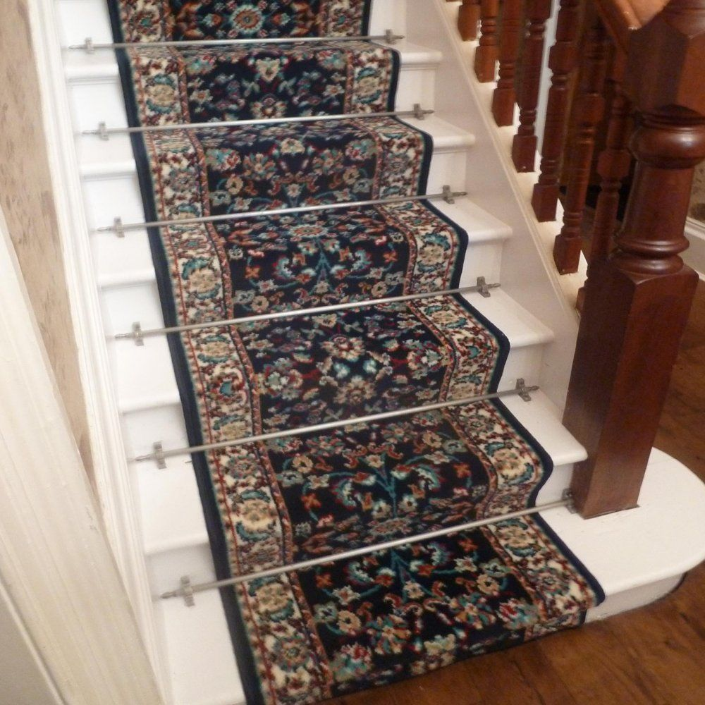 Persian D Blue Stair Carpet Runner Narrow Staircase
