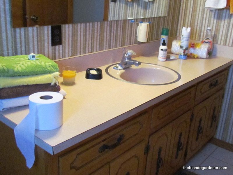 How To Paint A Formica Countertop Bathroom Countertops