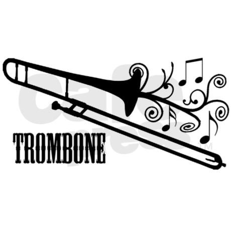 Trombone Swirls Wall Decal By Shakeoutfitters Cafepress Trombone Trombone Art Music Silhouette