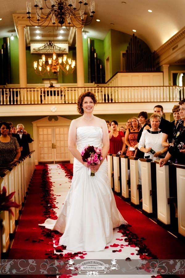 Bride down the aisle. Photo by: FRPhoto