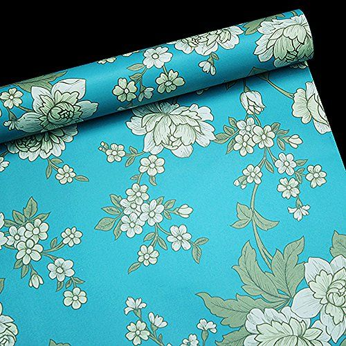 SimpleLife4U Vintage Peony Decorative Contact Paper Self Adhesive ...