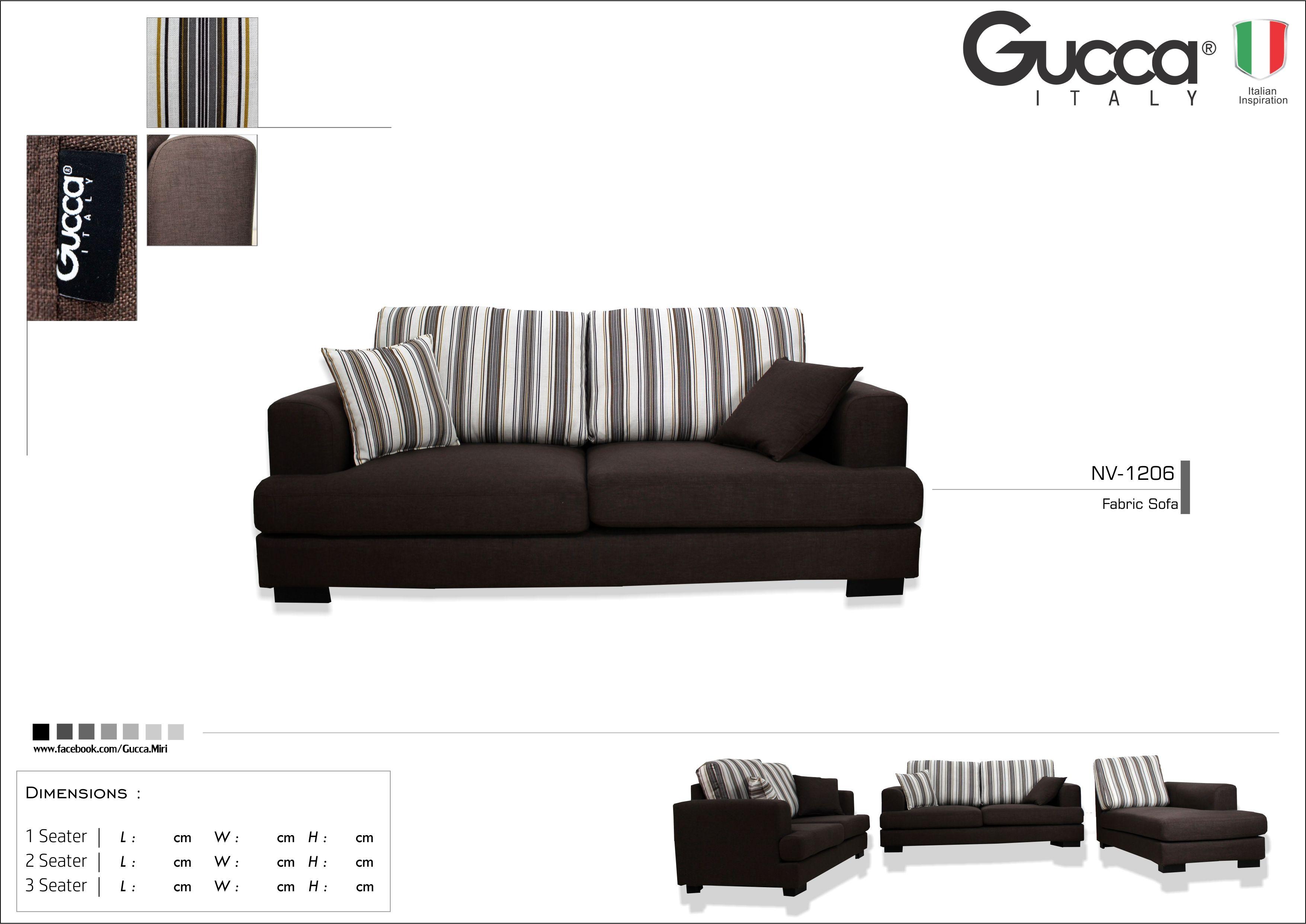 Fabric Sofa Gucca Italy Miri G Brothers Furniture Sdn Bhd