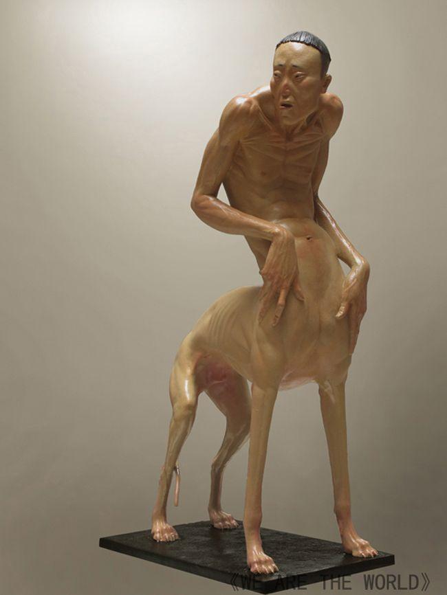 Creepy Human Animal Hybrid #Sculptures by LIU XUE | sculpture ...