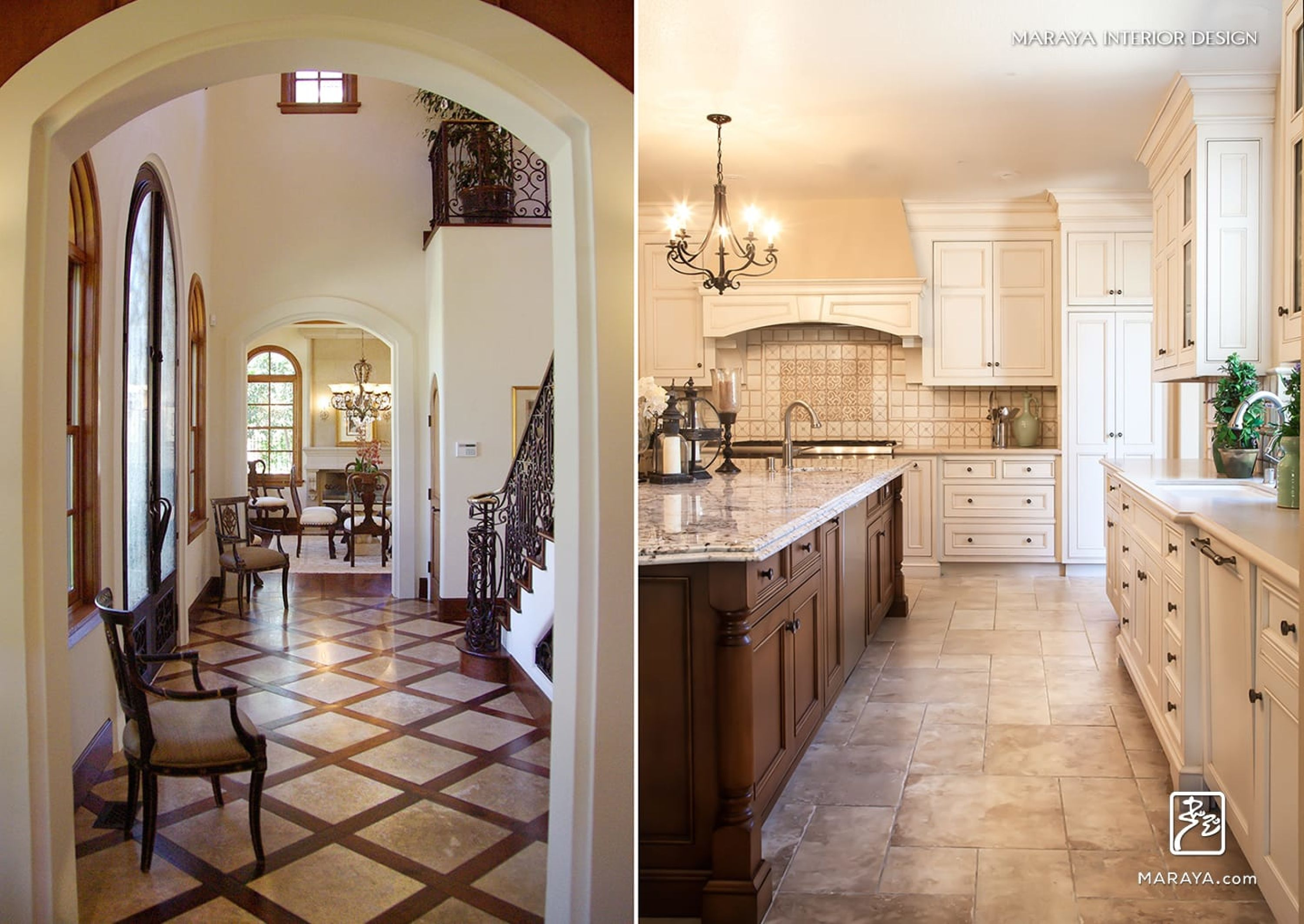 Portfolio Residential Traditional White Kitchen Cabinets Spanish Kitchen Interior Design