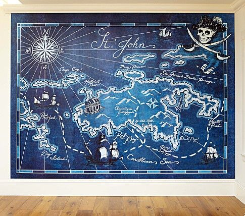 Pirate Map Mural | Pottery Barn Kids