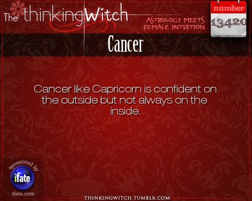 Thinking Witch - Cancer: . http://ifate.com